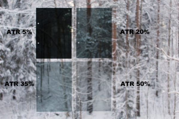 window film tone chart