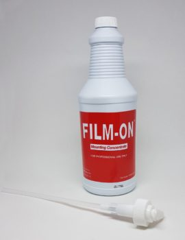 Llumar Film on window tinting liquid